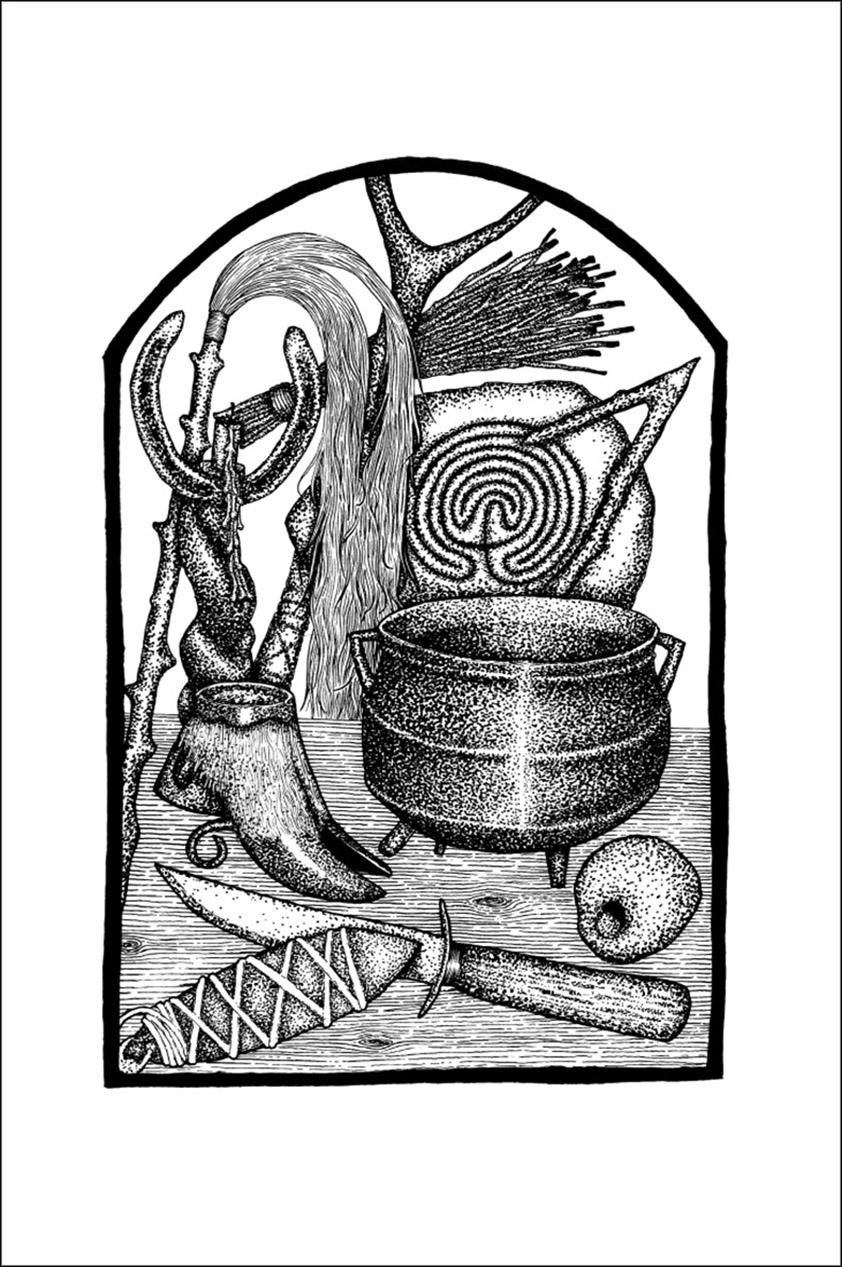 Traditional Witchcraft a Cornish Book of Ways by Gemma Gary - drawing by Gemma Gary