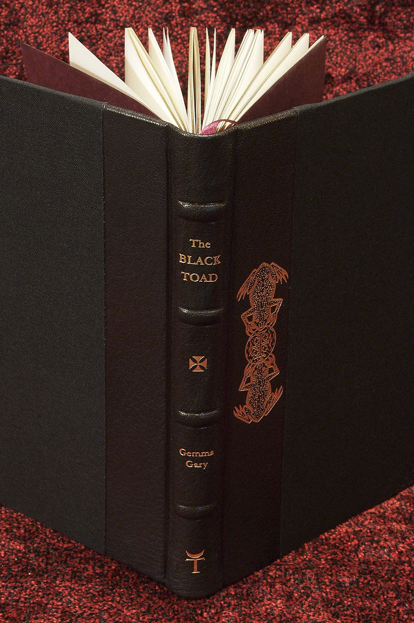 The Black Toad by Gemma Gary - Fine Edition spine