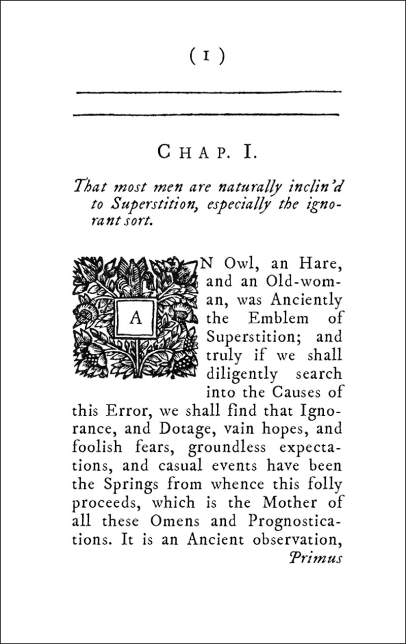 A Discovery of the Impostures of Witches and Astrologers  by John Brinley 1680 page sample