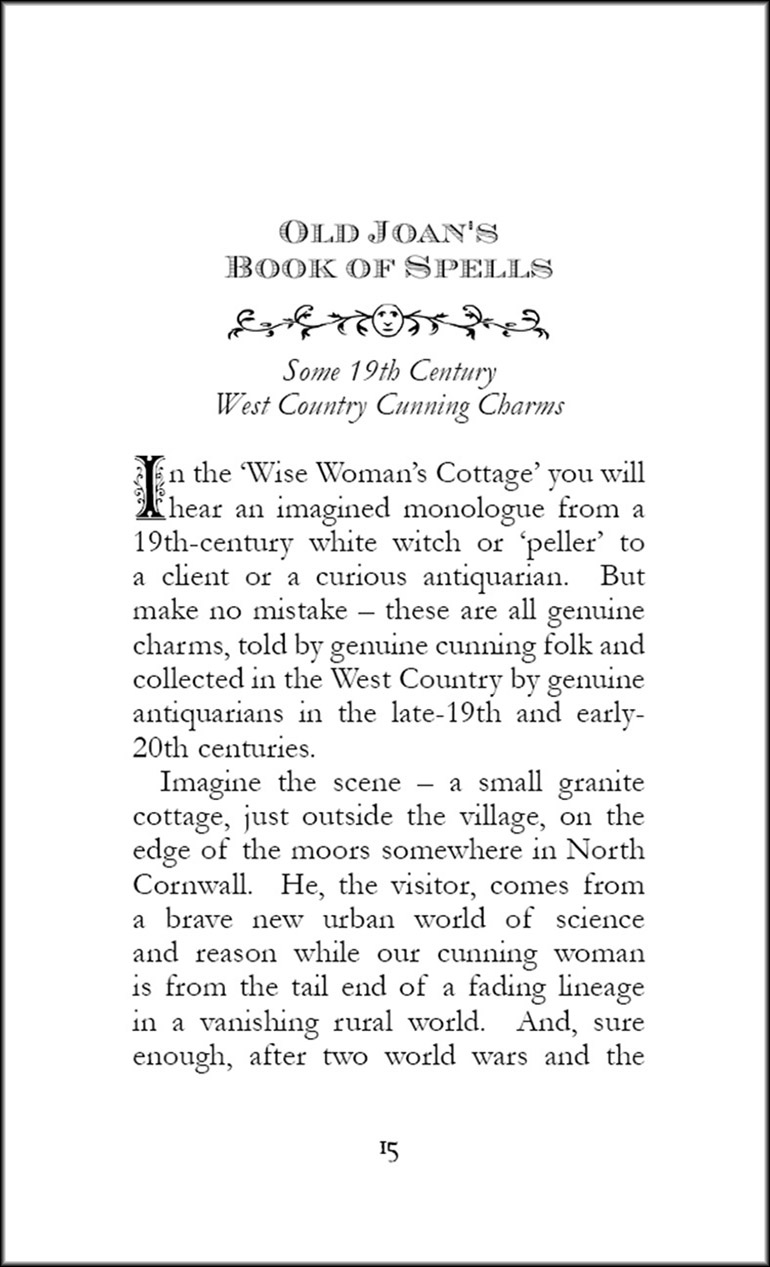 Spells from the Wise Womens Cottage by Steve Patterson - page sample